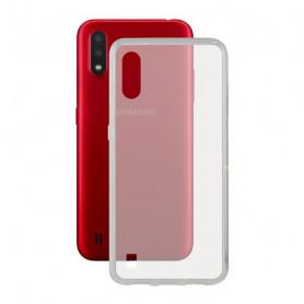 Mobile Phone Case with TPU Edge Samsung Galaxy A01 KSIX Flex Transparent KSIX - 1