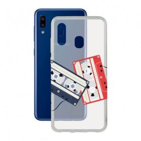 Mobile cover Samsung Galaxy A20 KSIX Flex Cassettes TPU Transparent KSIX - 1