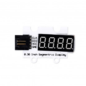 7 Segments and 4 Digits Display Module 5V BigBuy Tech - 1